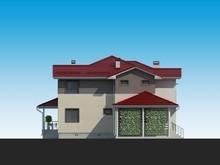 Оригинальный проект жилого дома с террасой и навесом для автомобиля