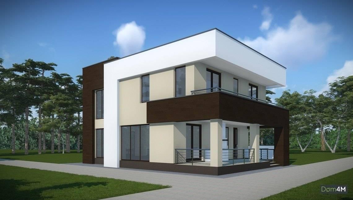 Проект суперсовременного коттеджного дома на 2 этажа