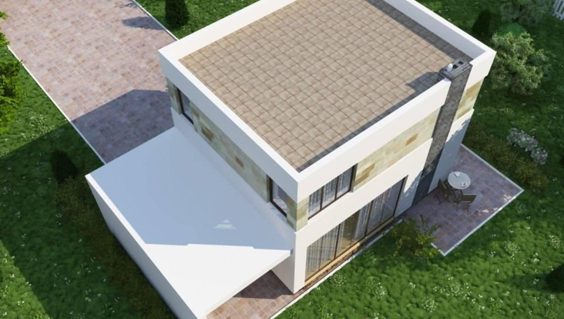 Красивый проект маленького уютного дома хай-тек