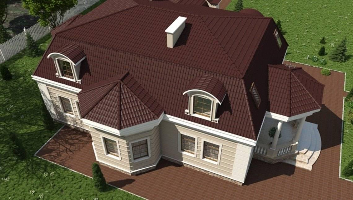 Красивый проект большого особняка с 5-ю просторными спальнями
