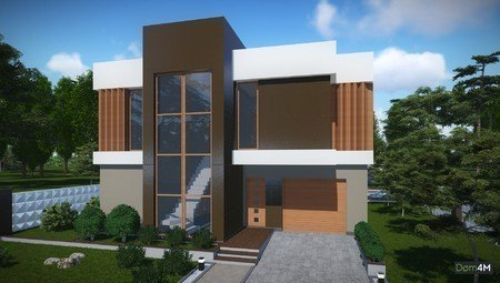 Проект для строительства красивого современного дома