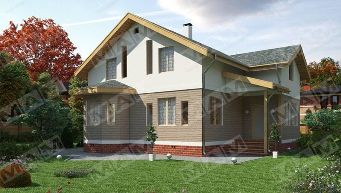 Оригинальный проект недорогого удобного стильного дома