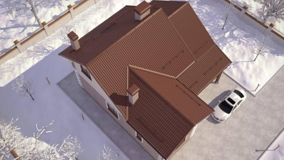 Оригинальный проект необычного 2х этажного практичного дома