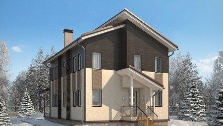 Красивый проект практичного 2х этажного особняка на 190 m²