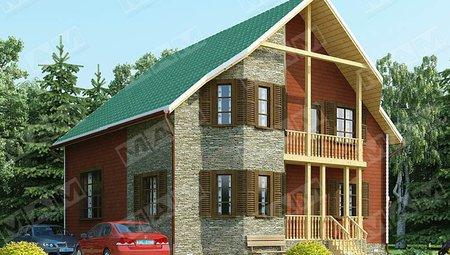 Оригинальный проект небольшого загородного дома площадью 150 м