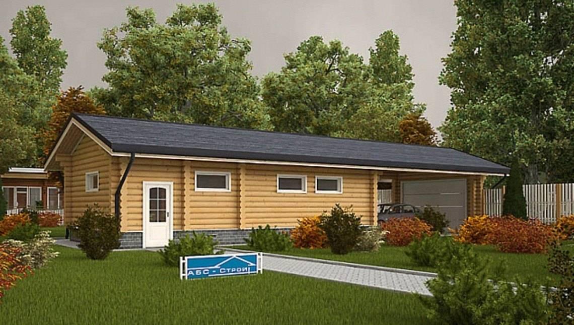 Удобный гараж с деревянным фасадом