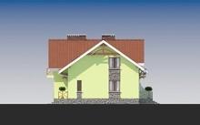 Красивый проект стильного 1.5-этажного коттеджа с многоскатной крышей