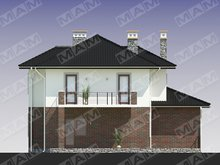Красивый проект загородного коттеджа со встроенным гаражом и кирпичным фасадом