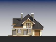 Красивый проект классического дома с двумя эркерами