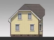 Оригинальный проект малогабаритного простого дома площадью 100 m²