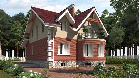 Красивый проект узкого дома с мансардой и цокольным этажом