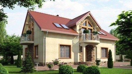 Красивый проект классического загородного коттеджа с шестью спальнями