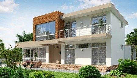 Красивый проект современного коттеджа с большими террасами