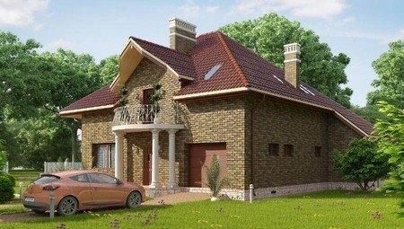 Красивый проект классической усадьбы с кирпичным фасадом
