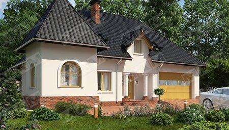 Красивый проект дома с мансардой в английском стиле