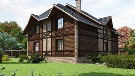 Красивый проект оригинального дома в стиле шале