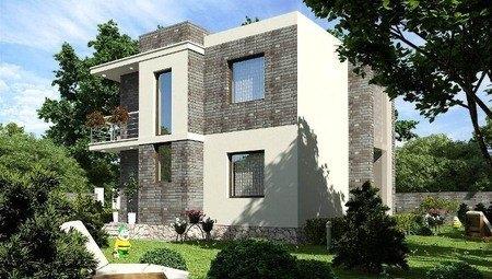 Красивый проект современного дома с плоской кровлей