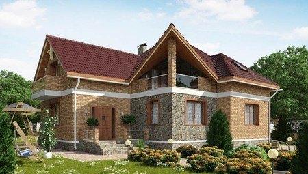 Великолепный коттедж в английском стиле с кирпичным фасадом