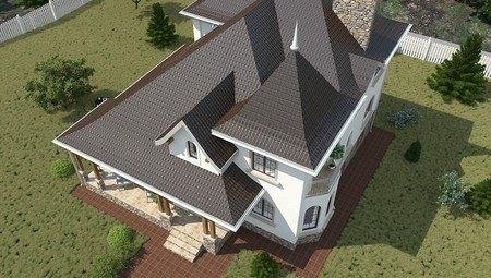 Красивый проект дома с цокольным этажом