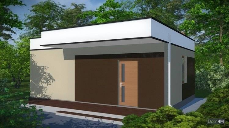 Проект удобной современной бани с кухонной зоной