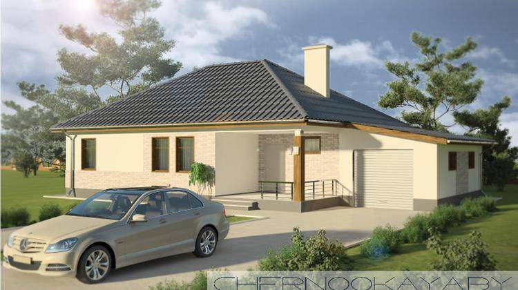 Проект компактного загородного дома 130 m²