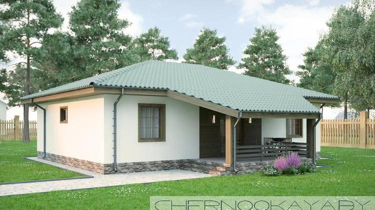 Проект компактного и уютного деревенского домика