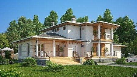 Оригинальный проект удобного современного дома 300 m²