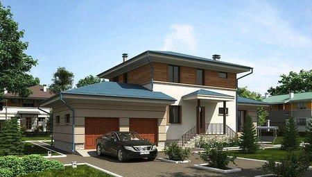 Оригинальный проект жилого загородного дома 220 m² с террасой