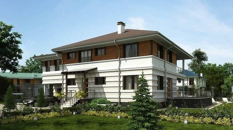 Оригинальный проект жилого дома с террасой и удобной планировкой
