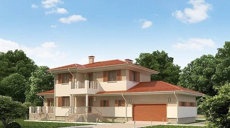 Оригинальный проект двухэтажного роскошного особняка до 300 m²