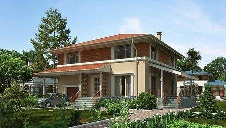 Оригинальный проект современного квадратного дома со всеми удобствами