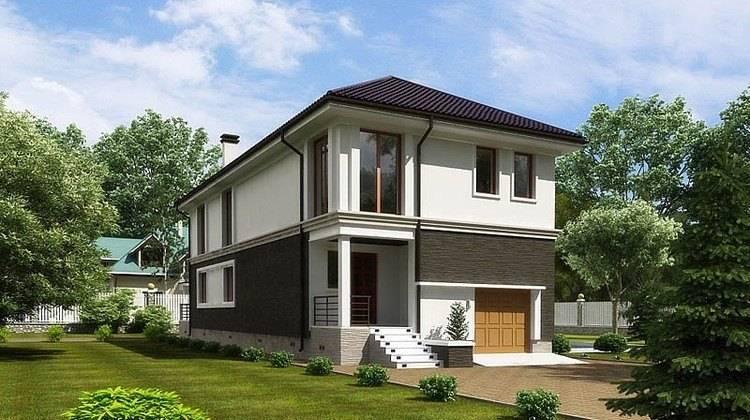 Оригинальный проект 2х этажного дома для узкого участка