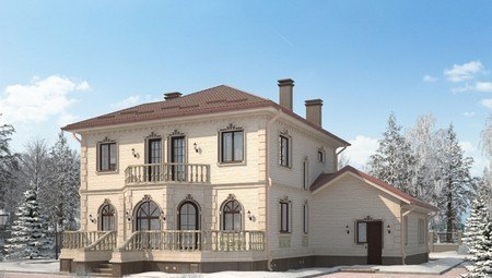 Оригинальный проект роскошного изысканного дома с необычным фасадом