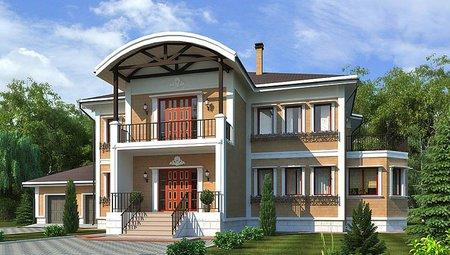 Оригинальный проект загородного необычного дома для постоянного проживания