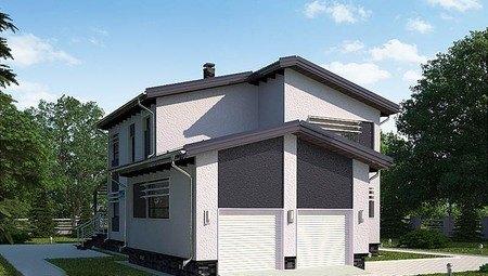 Оригинальный проект 2х этажного небольшого загородного дома удобной планировки