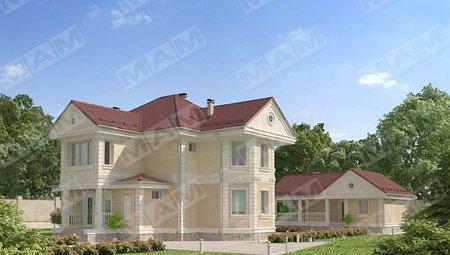 Оригинальный проект загородной виллы, площадью 220 m²