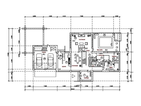 Красивый проект современного двухэтажного особняка с бассейном