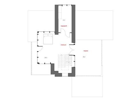 Красивый проект трехэтажного современного особняка для наклонного участка