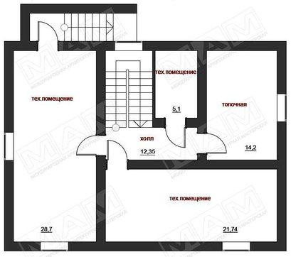 Красивый проект классического дома с цокольным этажом