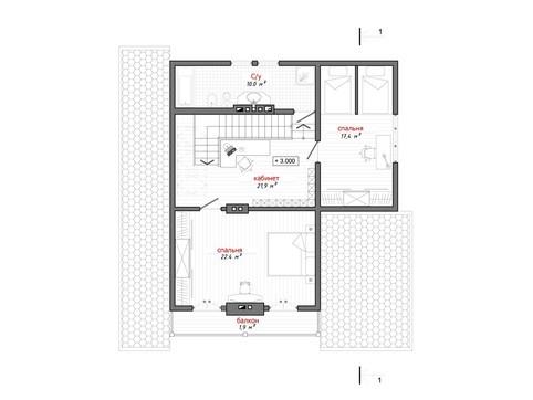 Красивый проект каркасного дома с просторной мансардой