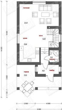 Красивый проект красивого дома с подвалом для узкого участка