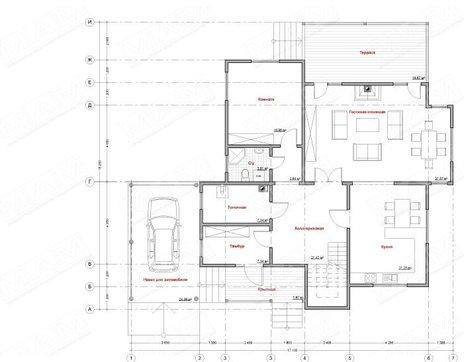 Оригинальный проект дома 270 m² с деревянным фасадом